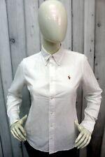RALPH LAUREN Camicia Donna Taglia M Bianco Shirt Casual Chemise Manica Lunga