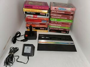 ATARI 2600 JR. PAL FORMAT CONSOLE SYSTEM WITH 20 GAMES (NO RF) NOT FOR USA B3