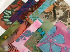 "20 5"" Quilting Fabric Squares PreCut Quilting Charm Pack Batik Holiday"