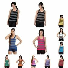 Girls' Striped Sleeveless Vest T-Shirts, Top & Shirts (2-16 Years)