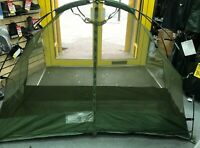 Brand New Genuine British Army Cot Mounted Mosquito Net Camping Gn #1925