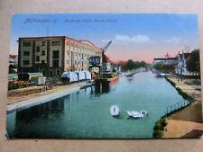 Uralte AK*Mühlhausen i.E. Partie am Rhein -Rhone-Kanal  9.Juli 1917