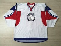 2014 WC U20 IIHF Game Worn Norway Ice Hockey Jersey NIKE Norge #21 NEILSEN