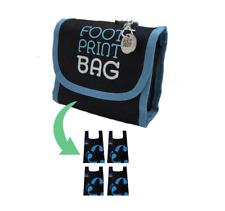 Footprint Bags Reusable bags  4 Bag Pack Blue