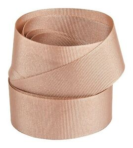 """Rose Gold 3/8"""" Grosgrain Ribbon neatly wound"""