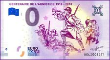 UE LZ-1 / CENTENAIRE DE L'ARMISTICE / BILLET SOUVENIR 0 € / 0 € BANKNOTE 2018-1