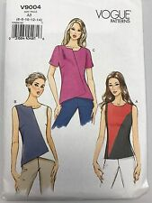 Vogue Sewing Pattern V9004 Uncut Factory Folded A5 6-8-10-12-14 Shirts Tops