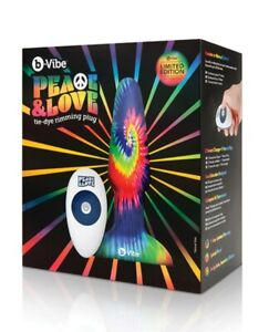 b-Vibe Peace and Love Tie-Dye Rimming Plug Free Shipping