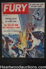 Fury Nov 1958 Cornell Woolrich, John Floherty, Jr. Cvr, Nikki Joye,  - High Grad