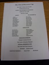 24/07/2005 Teamsheet: At Dundee - City of Discovery Cup 3rd/4th Play-Off - Dunde