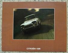 CITROEN AMI Car Sales Brochure August 1973 FRENCH TEXT