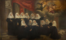 "oil painting  ""the sisters of the convent of the Black Canon Augustinian nuns """
