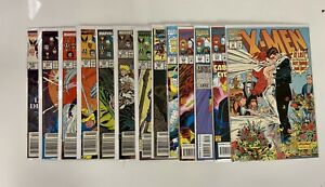 X-Men Newsstand Lot + Hologram + Inserts Attached 1994 Fleer Ultra (13 Books)