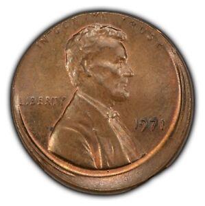 Mint Error 1c Lincoln Memorial Small Cent - Off-Center Strike - SKU-Y3553