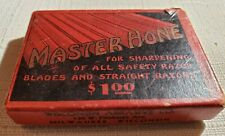 Vintage Master HoneSafety Razor Blade Honing Stone W/ Original Box Bakelite