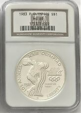 1983 P Los Angeles Olympics Commemorative Silver Dollar NGC MS69