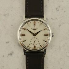c1957 Vintage Longines manual Calatrava waffle dial watch ref.2350-23ZB in steel