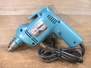 """Vintage & Tested Makita #6404 2.8A 0-2100 RPM VSR 3/8"""" Corded Electric W/ Key"""