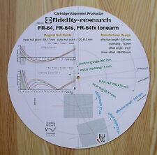 FIDELITY Research FR-64/FR-64S/FR-64FX BRACCIO CARTUCCIA allineamento Goniometro