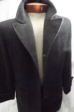 STATIC Womens Wool Coat Gray Fully Lined Large Made In Russia