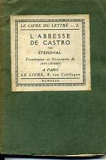 L'ABBESSE DE CASTRO. STENDHAL. ED LE LIVRE 1923. ILL. JEAN LEBEDEFF