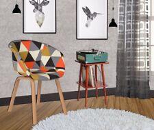 Retro Patchwork Armchair Fabric Lounge Chair Danish Accent Seat Multi Furniture