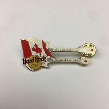 Hard Rock Cafe Niagara Falls Canada Canadian Flag Double Neck Guitar Bass Pin