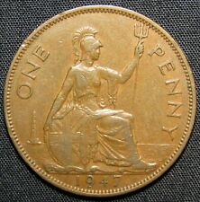 1947 Great Britain 1 Penny Coin