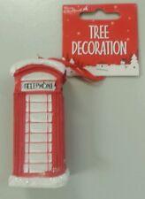Christmas Tree Decoration Telephone Box Christbaumschmuck - London Telefonzelle