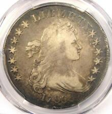 1799 Draped Bust Silver Dollar $1 Coin - Certified PCGS Fine Detail - Rare!
