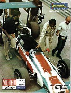 1970 Mid Ohio SCCA F5000 race program  George Follmer