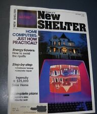 RODALE'S NEW SHELTER MAGAZINE SEP 1982 CHAINSAW TUNEUP CONCRETE REPAIRS