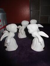 2 Sets of 2 Vintage Josef Kissing Angel Angels Figurines with Labels