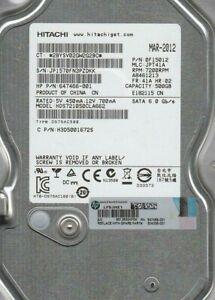 """Hitachi Deskstar 0F15012 7K1000.C 500GB 6G 7200RPM 3.5"""" SATA HDD HDS721050CLA662"""