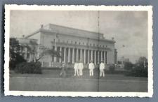 Philippines, Manille, La Poste  Vintage silver print. Ecriture au dos. Write on