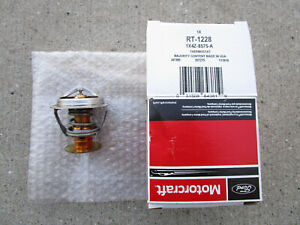 FORD 1X4Z-8575-A 1X4Z8575A MOTORCRAFT RT-1228 ENGINE COOLANT THERMOSTAT OEM NEW