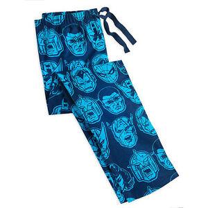 Disney Store Marvel Comics Super Hero Pajama Lounge Pants Mens Size S M XL