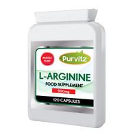 L-Arginine HCL 500mg High Strength Amino Acid Nitric Oxide Increase Size + Pump