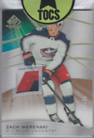 Zach Werenski 2019-20 SP Game Used Premium Patch Card 02/25 Columbus Blue Jacket