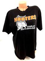 Hooters T-Shirt Charlotte NC Owl Logo Made USA Short Sleeve 100% Cotton Size XL