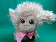 Vintage Applause Dreampuffs Shaggy Cream Baby Lamb Pink Bow Plush Stuffed Animal
