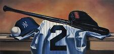 Derek Jeter New York Yankees Art Print Litho LTD.ED. signed Bill Williams artist