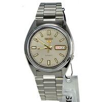 SEIKO 5 SNXS75 SNXS75K1 Automatic 21 Jewel Silver Dial Stainless Steel Men Watch