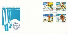 New Zealand 1984 Ski Fields FDC Unadressed VGC