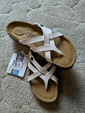 NWOB Betula Birkenstock Vinja Soft Footbed SZ 9 US Narrow White Patent Strappy