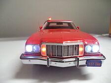 "Starsky & Hutch Ford Gran Torino 1/18 POLICE Car CUSTOM ""WORKING LIGHTS"" ut RARE"