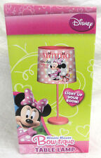 """MINNIE MOUSE BOWTIQUE, """"SMILES ARE IN STYLE"""" DESK / TABLE LAMP, NEW FAST SHIP"""
