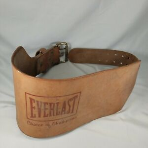 "Everlast Leather Weight Belt Medium 28""-38"" Vintage #1013 Brown USA 2 Prong"