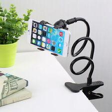 Flessibile Lungo Braccia Pigro Stand Clip Holder per Cellulare letto desktop auto nera