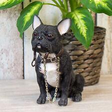 Sitting Black French Bulldog Ornament Figurine Statue Home Decor Object Item